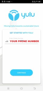 yulu Sign Up Process