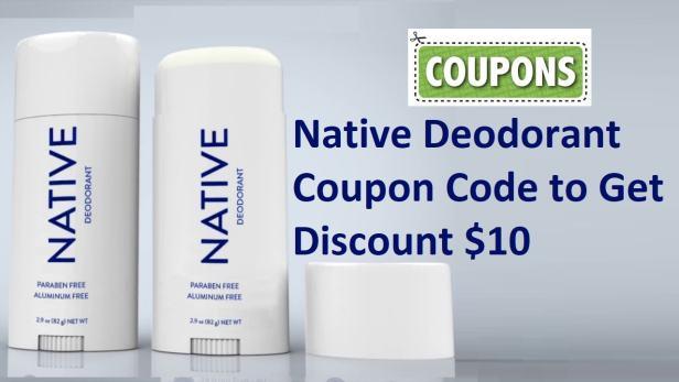 Native Deodorant Coupons codes & deals