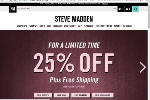 Steve Madden Promo Code Get 45% Discount
