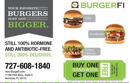 Burgerfi Coupon Get extra discount