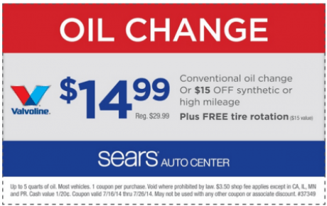 Sears Auto Coupon Get Discount