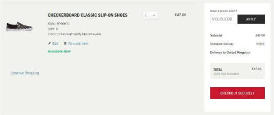 Vans Coupon Code Discount All Items