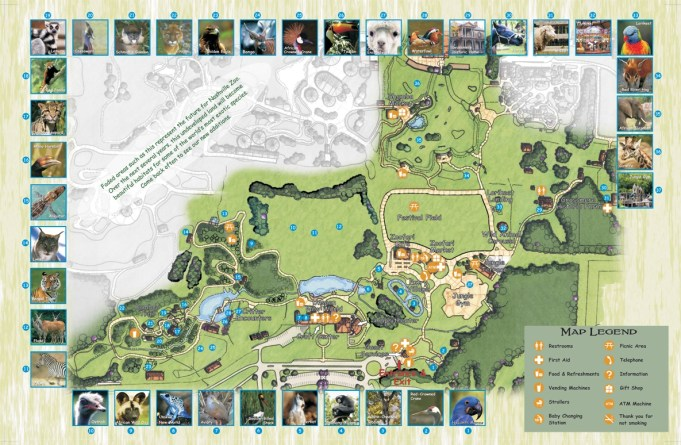 Nashville Zoo Map