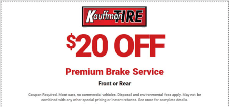 Kauffman Tire Coupon for amazing discount