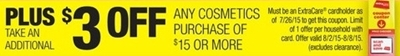3$/15 any cosmetics purchase printing for all at CVS starts tomorrow!