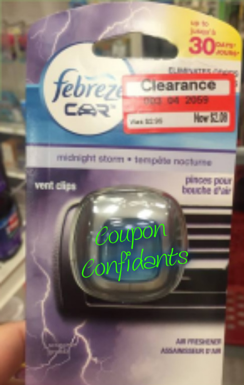 Clearance find at Target Febreeze car vent clips only $1.33