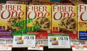 ONLY .59 for a box of Fiber One bars at Publix