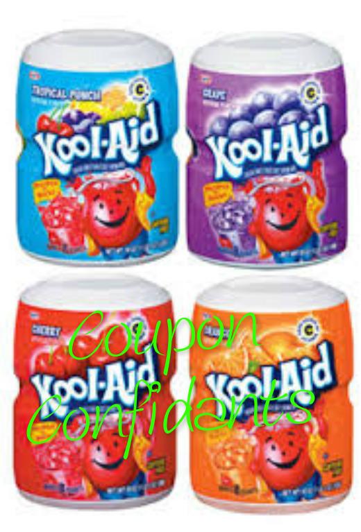 Hey Kool Aid Lovers! .49 Kool Aid canisters at Winn Dixie