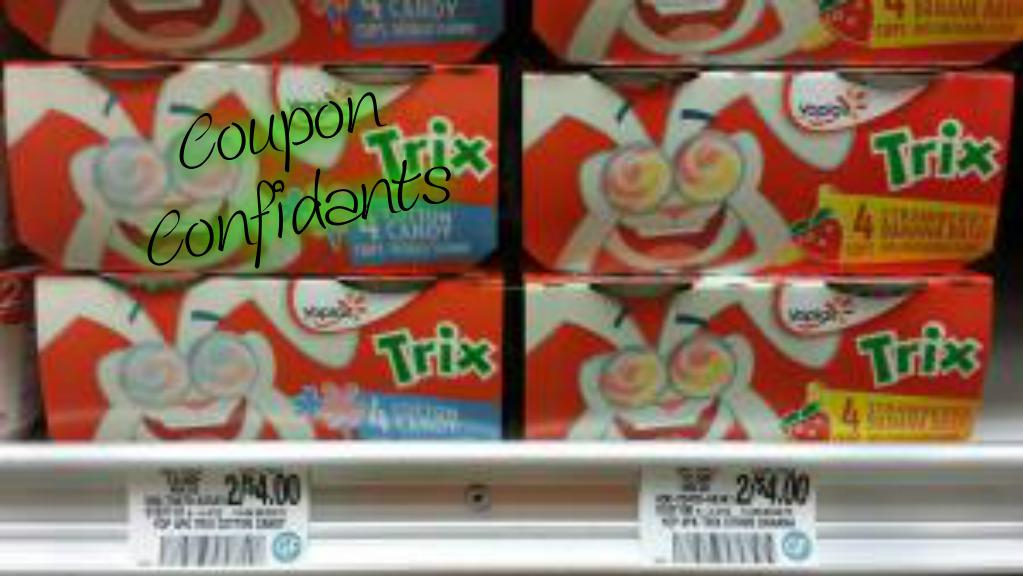 .65 Trix or Yoplait Kids Yogurt 4 pk at Publix