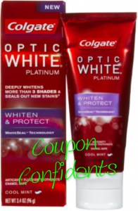 Only .50 for Colgate Optic White toothpaste at CVS