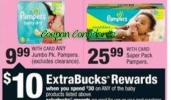 Awesome deal at CVS on Pampers this week!