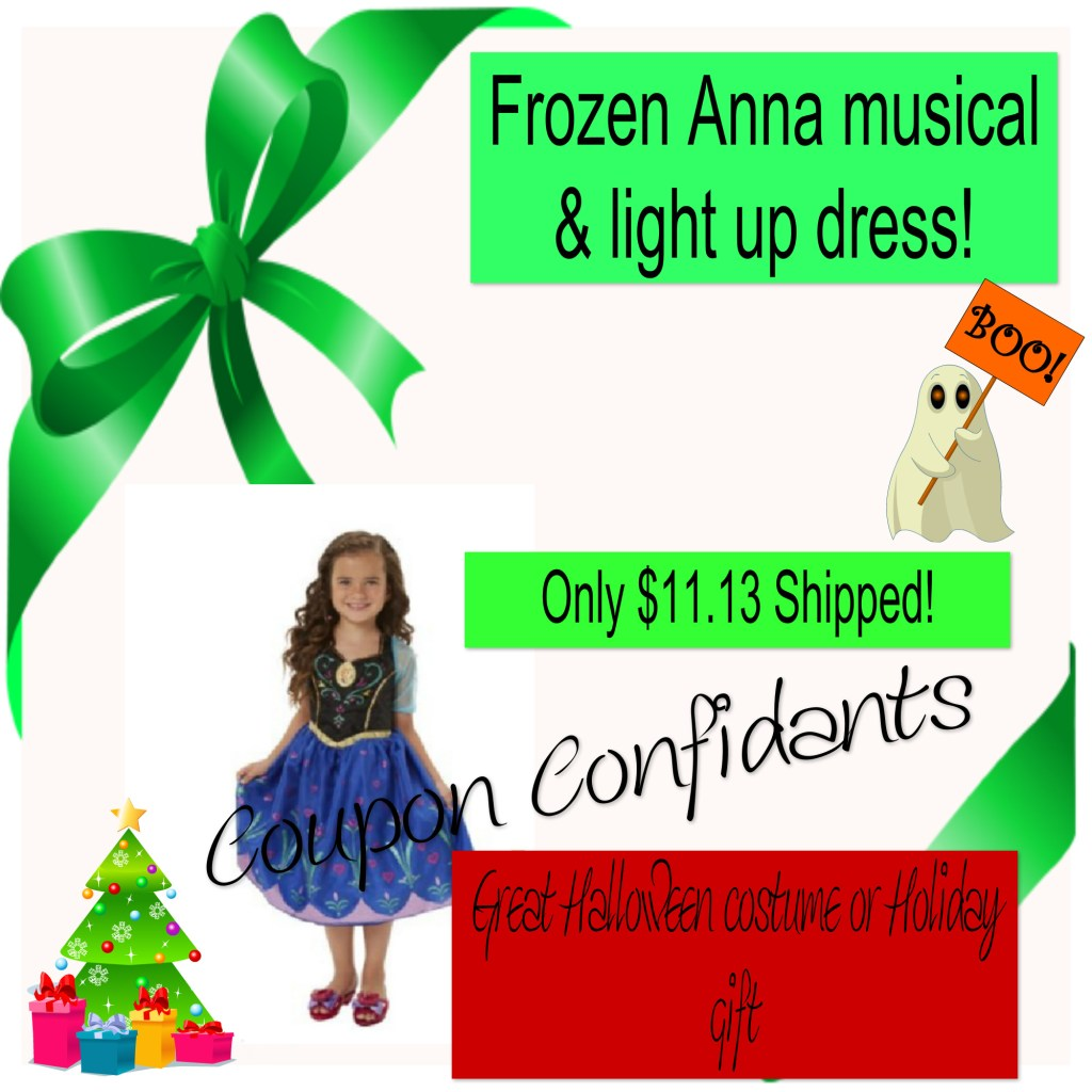 Anna musical and light up costume only $11.13 shipped!
