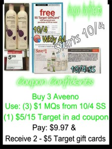 Free Aveeno at Target!!
