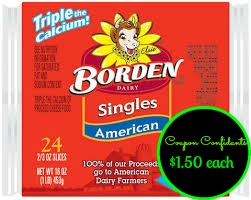 Publix: Borden Cheese Singles only $1.50 ~ Green Flyer