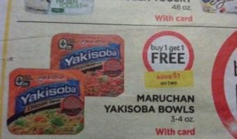 Score FREE Maruchan Yakisoba Bowls!