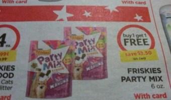 Friskies Party Mix $1.25 A Bag At Bilo!