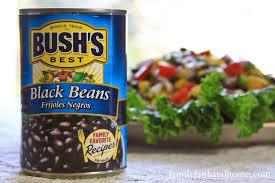 bush blacked beans