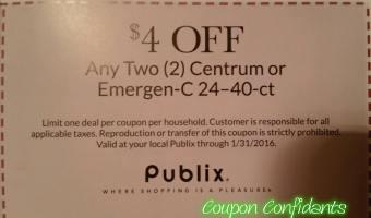 PSA: Publix coupon for the vitamins is Limit ONE!