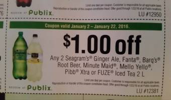 CHEAP!!! 2Ltrs of Minute Maid, Seagrams GInger Ale @ Publix GOING ON NOW!