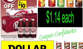 COUPON RESET ON THIS HOT DEAL!!! ~ Dollar General ~ Dr Pepper 12pk. & Pringles $1.14 each