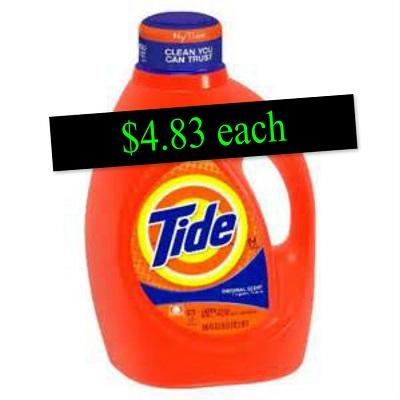 Publix : *** SUPER HOT ** $4 .83 each for LARGE Tide liquid detergent bottles!!! ~ Print & Clip now!