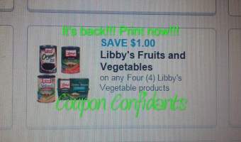 Libby's canned vegetables .25¢ each at Dollar General  & 35¢ each Publix~ Print now