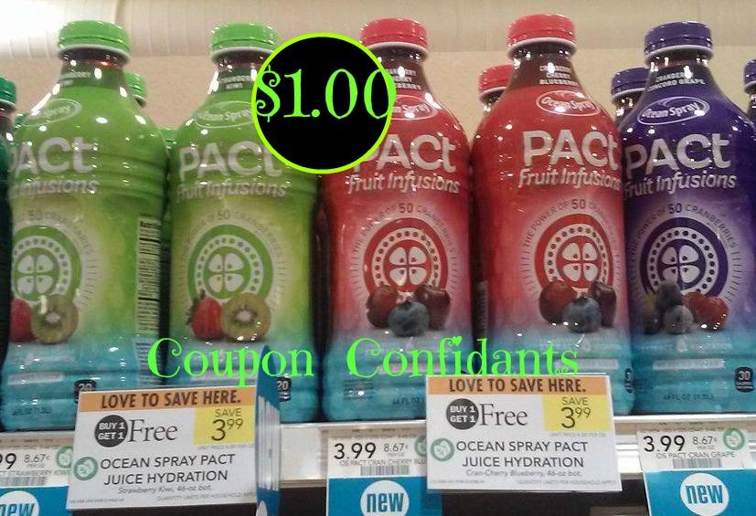 Ocean Spray PACT Water $1.50 each
