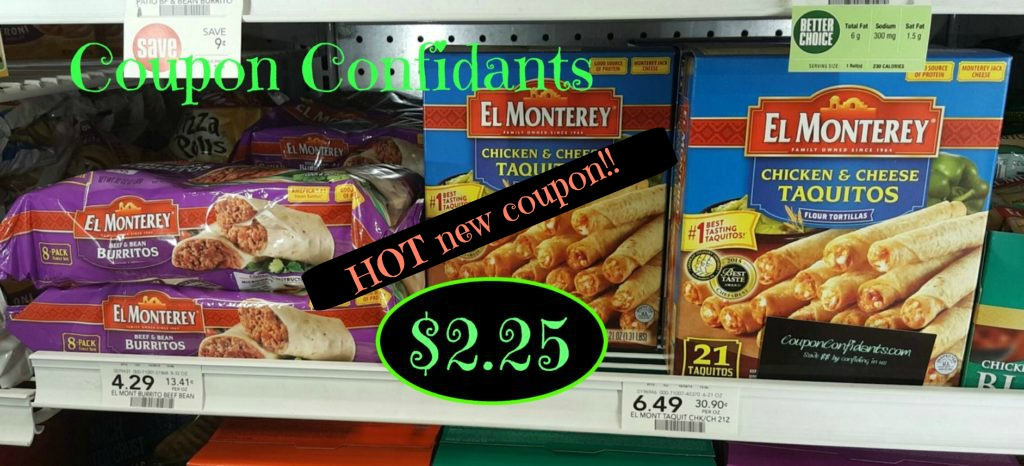 HOT NEW COUPONS for El Monterey taquitos $2.25 @ Publix ~ Starts 4/27 or 4/28