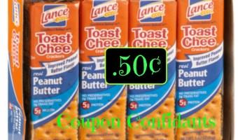 HOT ! .50¢ Lance crackers 8pks  @ Food Lion !