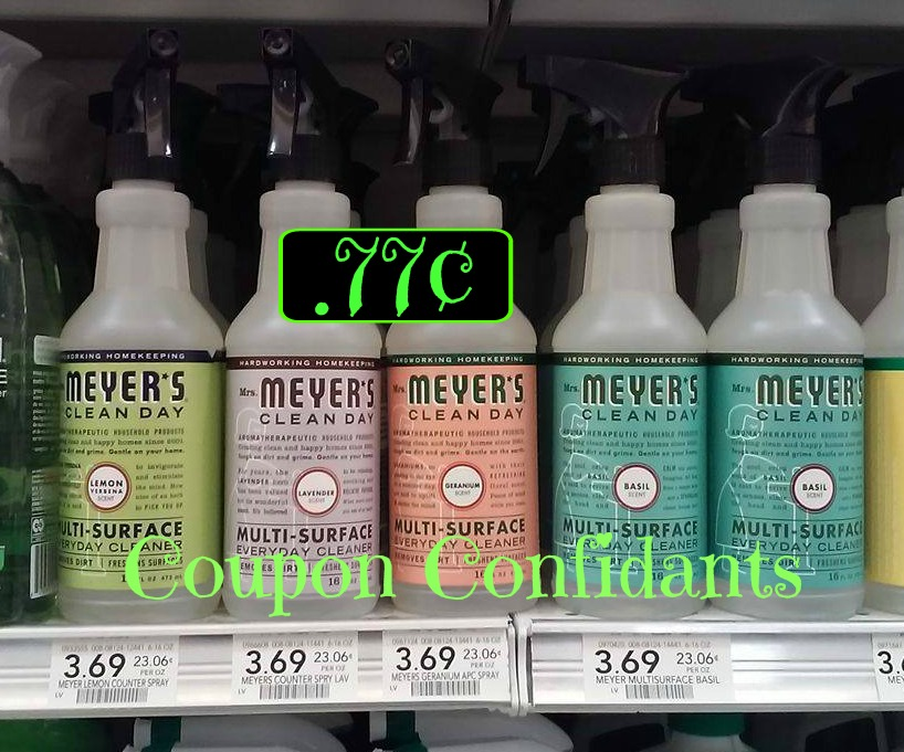 image about Mrs Meyers Printable Coupon named Mrs Meyers Cleaners as minimal as $.77¢ every single at Publix