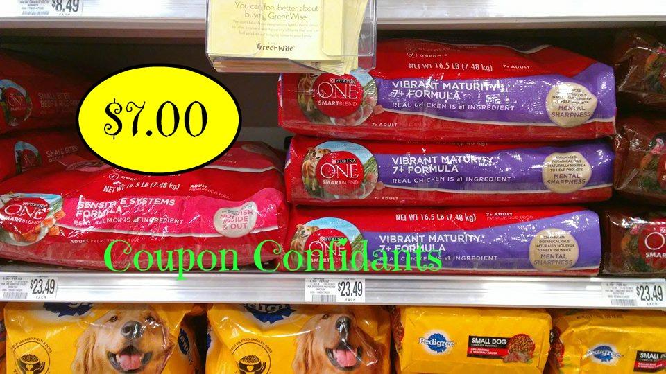 Purina One Dog Food 165lb Bag 7 At Publix Coupon Confidants