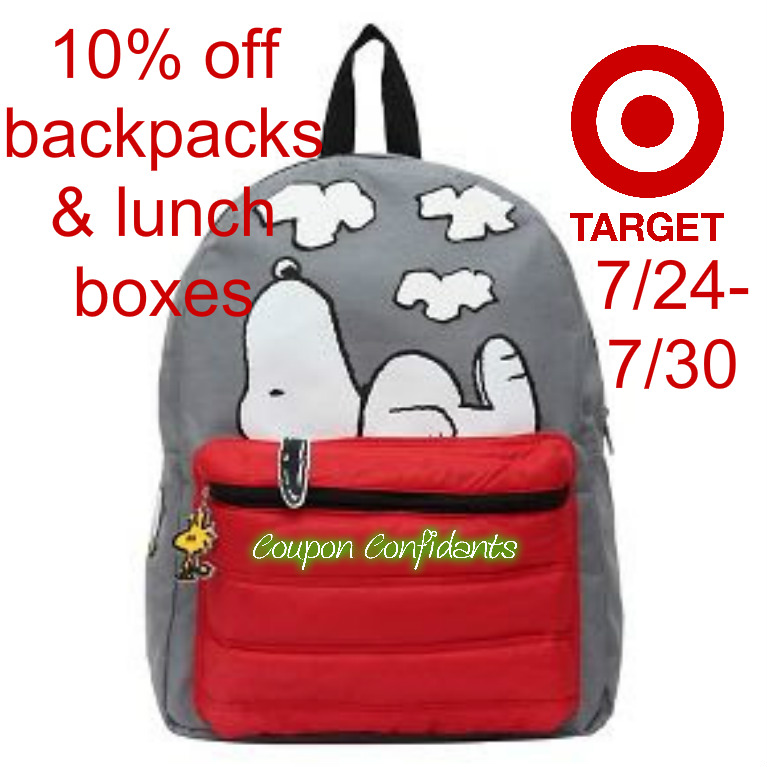 10% off Backpacks AND Lunch bags at Target!!! ⋆ Coupon