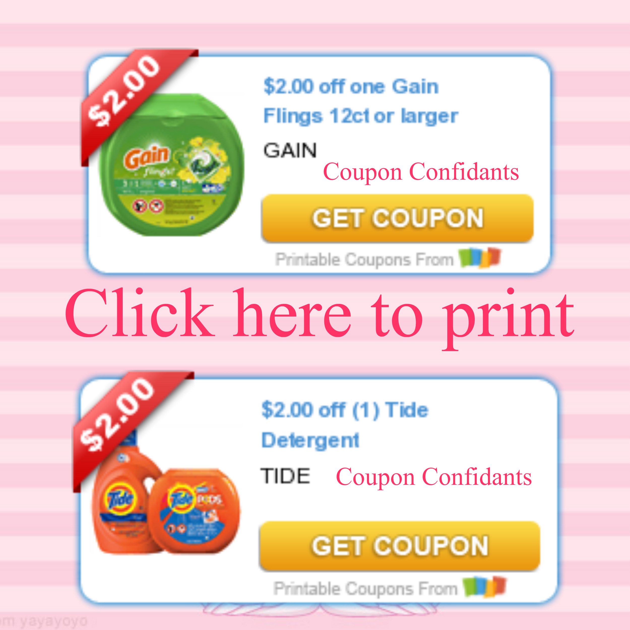 image about Gain Coupons Printable called Sizzling! Contemporary 12ct!!! Financial gain TIDE printable coupon codes ⋆ Coupon