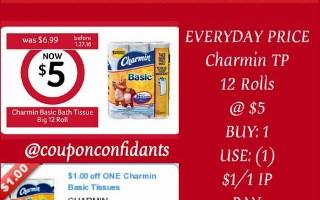 *WINN DIXIE & BILO* Charmin TP 12 Rolls For $4