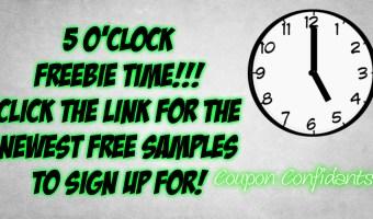 5 O'Clock FREEBIES! It's time!
