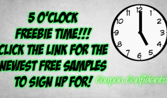 5 O'Clock FREEBIES! It's time!