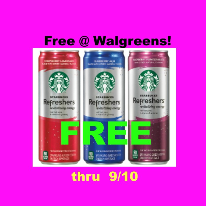 Hot Deal Free Starbucks Refreshers Walgreens Coupon