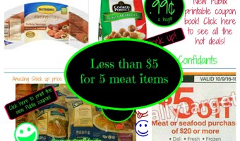 Less than $5 for 5 packages of meat @ Publix this week!