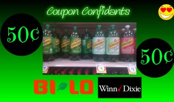 Ongoing deal! 50¢ Schweppes at Bi-lo and Winn Dixie
