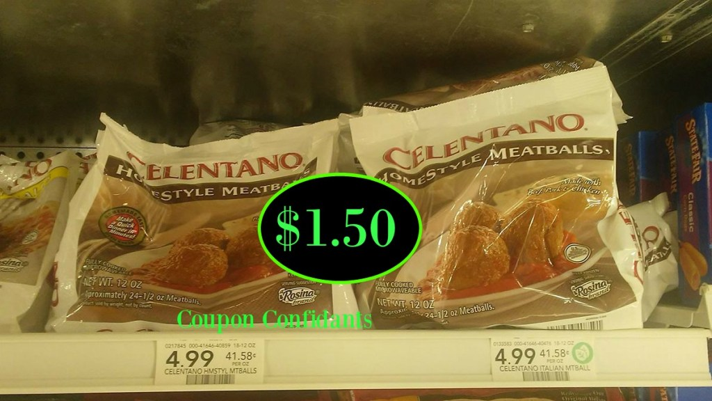 Celentano Meatballs  50¢ a bag at Publix!