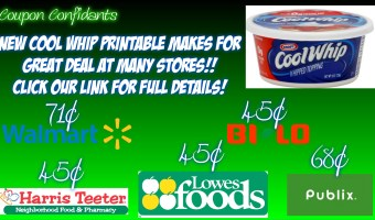 Cool Whip for GREAT prices at MANY stores!!! All breakdowns here!
