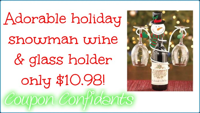 holiday-snowman-wine-and-glass-holder