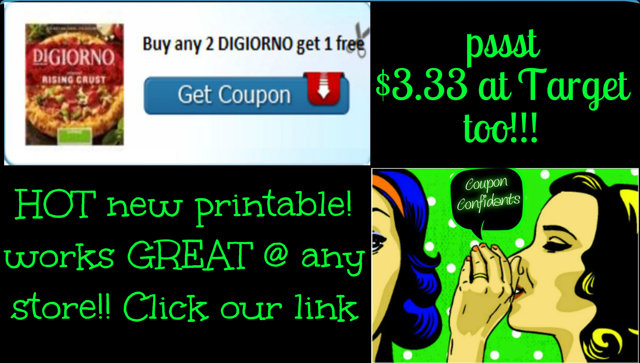 image relating to Digiorno Coupons Printable known as B2G1 Digiorno Pizza Coupon! Should really Print!! ⋆ Coupon Confidants