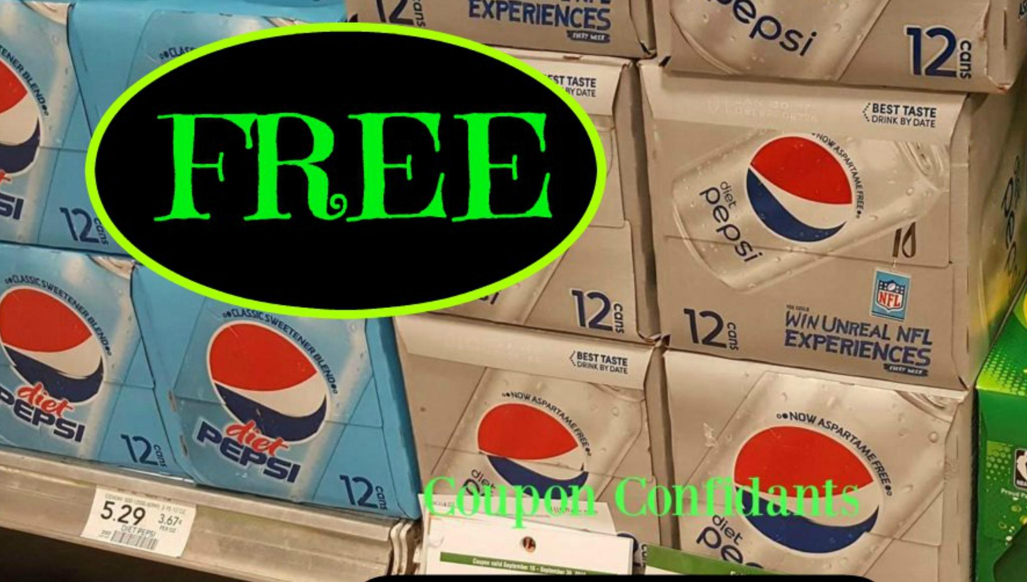 Free Diet Pepsi Or Pepsi Zero Sugar 12 Pks At Publix Today Only