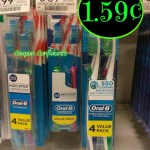 Oral B toothbrush Twin Pack  .59¢ at Publix!