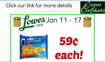 Stock up price for Bird's Eye Vegetables at Lowe's Foods!
