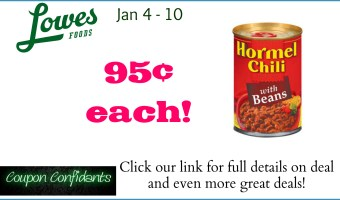 Hormel Chili for a SPICY price at Lowe's Foods!