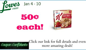 Special K Bars for only 50¢!!! Starts tomorrow @ Lowes Foods