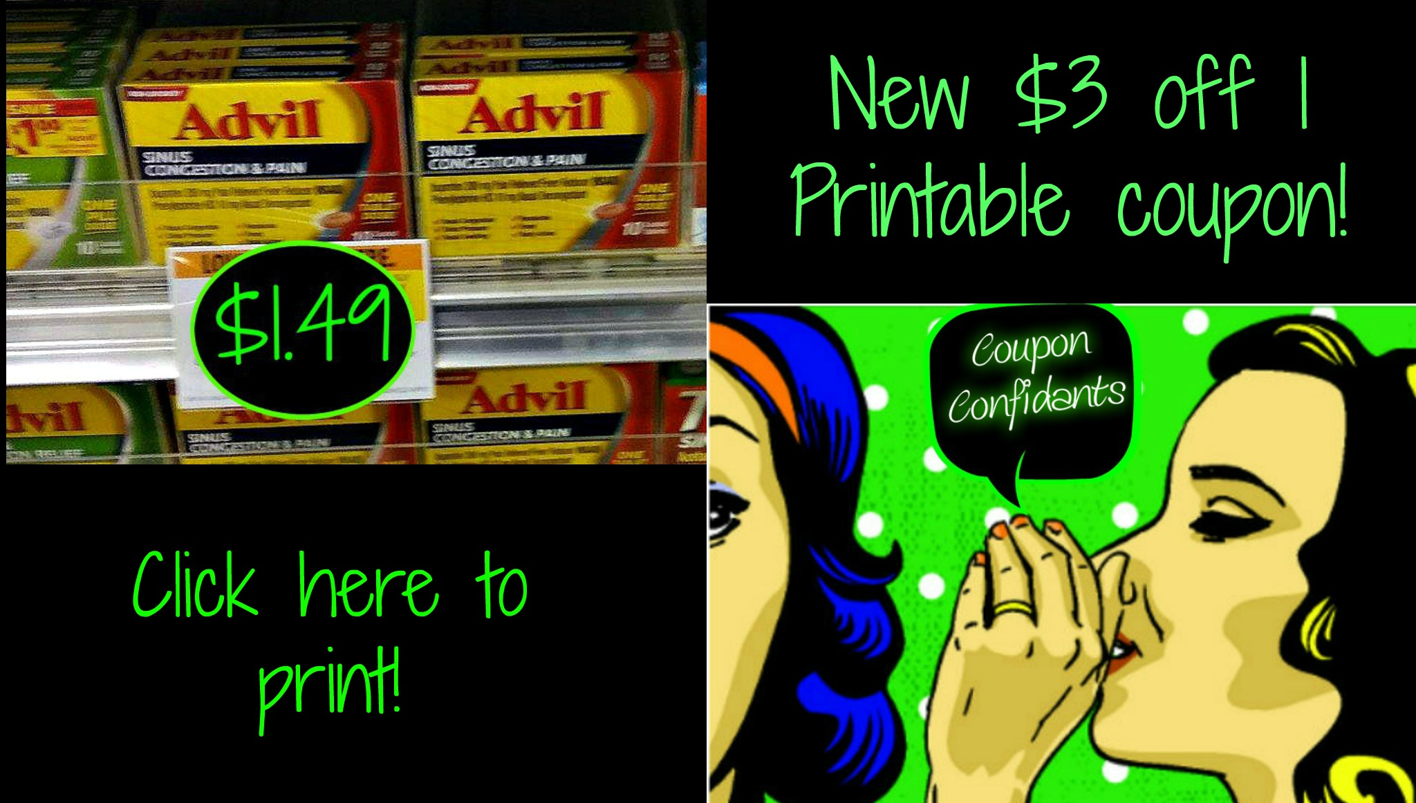 photo about Advil Printable Coupon referred to as Advil Sinus or Allergy Medicines merely $1.49 at Publix! Fresh new