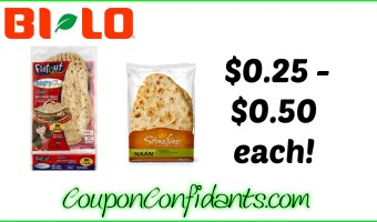 HOT Deals on Flatout and Naan Breads – Bi-lo and Winn Dixie!!